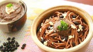 espaguetis-con-caraotas