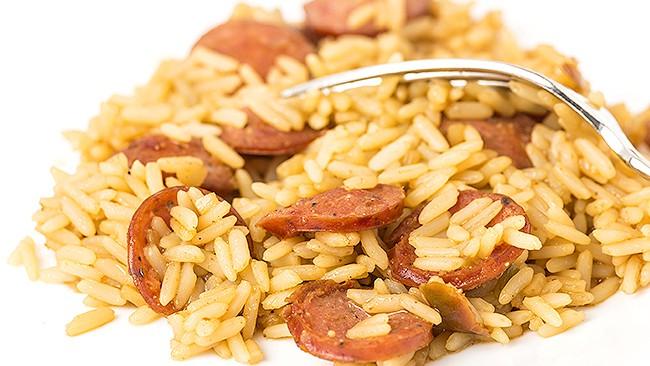arroz-con-salchicha