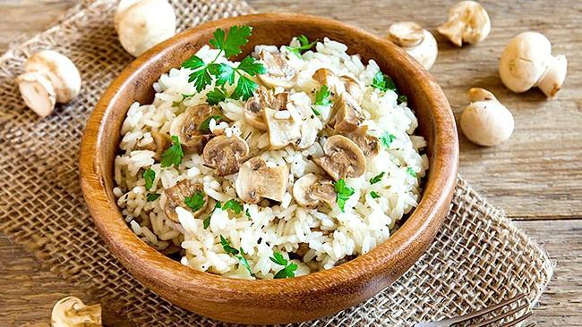 arroz-salvaje-con-champiñones