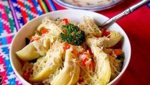 arroz-con-alcachofas-calabacin-y-pimenton